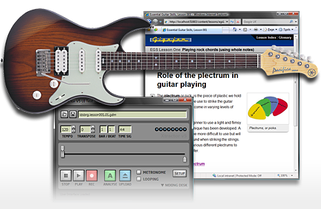 Guitar lessons screenshot