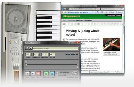 Keyboard lessons screenshot